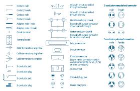 pict terminal and connector symbols design elements terminals and connectors design elements terminals and connectors on cable wiring diagram symbols