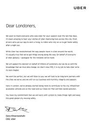 Business Apology Letter For Mistake Uber's New CEO Issues Public Apology To London For Company's 24