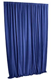 blue cotton velvet curtain panel 108 inch h long heavy thick acoustic studio noise deadening soundproof energy saving thermal ds dry