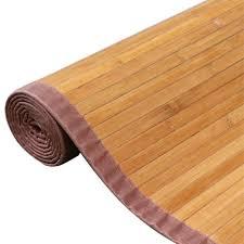 6 of 10 bamboo area rug floor carpet 4 x 6 bamboo wood non slip mat