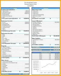 Simple Personal Balance Sheet Example Accrued Liabilities Balance Sheet Personal Template Excel