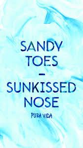 Sandy Toes Sunkissed Nose Pura Vida Bracelets Beach Trip