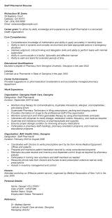 Pharmacy Resume Sample Doc