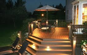 Beach Style House Deck Lighting Ideas  Accent Lighting For Deck Idea