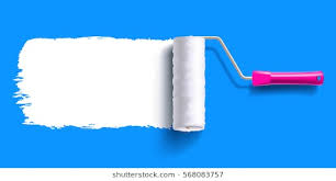 paint roller background.  Paint White Color Trail Of The Roller Brush On Colorful Background For Headers  Banners And Advertising Throughout Paint Roller Background T