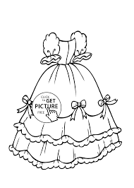 Small Picture with bows coloring page for girls printable free