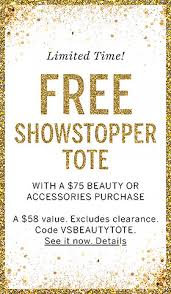 free showstopper tote with a 75 beauty or accessories purchase a 58