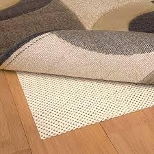 6 in round cream non slip comfort grip rug pad to enlarge