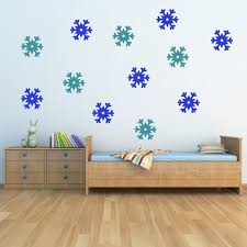star snowflake wall sticker pack decoration wall decal home decor