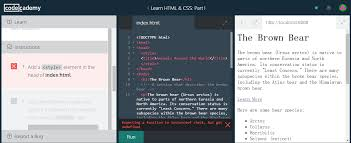 Add a <style> element in the head of index.html - HTML - Codecademy ...