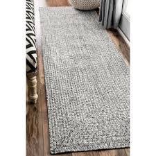 7 Oliver U0026 James Rowan Handmade Grey Braided Runner Rug