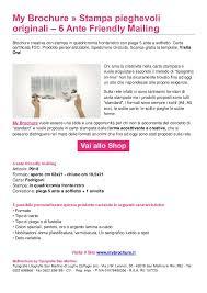 Formati Brochure Stampa Pieghevoli Online 6 Ante My Brochure