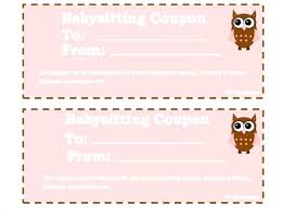 Coupon Format Template Free Coupon Format Template Baby Sitting Download Homemade