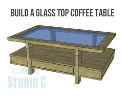coffee table plans glass top drawers copy
