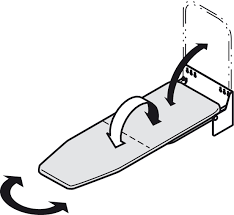 hafele ironfix ironing board wall mounted rotates 180
