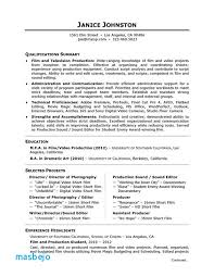 Microsoft Resume Templates Film Resume Example Production Assistant