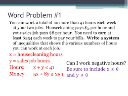 linear inequality word problems worksheet pichaglobal