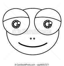 かわいい 目 シルエット ヒキガエル 顔 両生動物 意味深長 漫画