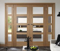 shaker 4 light 4 light dividing doors oak worcester glazed doors