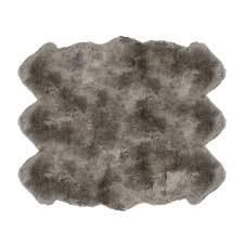 rug auskin sheepskin rug unique fibre by auskin sheepskin rugs 6 pelt premium vole gray