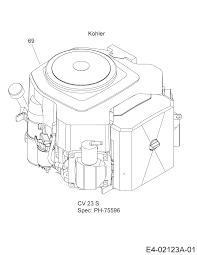 Motor kohler 14ab13cp603 2006 gt 1223 gartentraktoren cub cadet