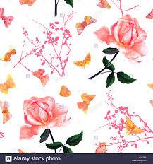 Un Mod Le Sans Couture Avec Une Aquarelle Dessin D Une Rose Rose