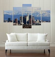 los angeles buildings hd canvas painting wall art game 5 pieces prints home decor picture panels on wall art stores los angeles with los angeles buildings hd canvas painting wall art game 5 pieces