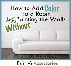 add color to a room without painting