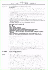 Research Resume Samples Clinical Research Associate Resume Specialized Clinical