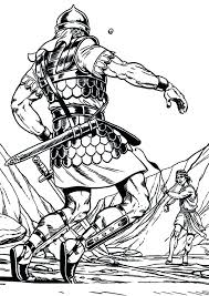 David And Goliath Coloring Page And Coloring Pages Full Size Of And
