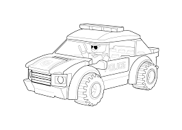 Small Picture Police car coloring page Lego printable free Lego coloring page