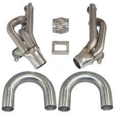 no welded diy turbo manifold header kit for ls1 lsx lqx lmx motor t4 single