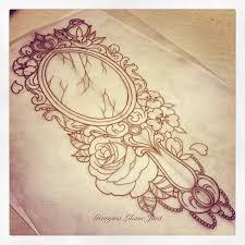 Antique Hand Mirror Tattoo Mirror Designs