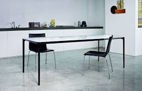 Extendable Dining Table Slim Metal Frame With Glass Or Ceramic
