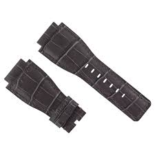 details about new 24mm leather watch band strap for bell ross watch br 01 br 03 grey 7a
