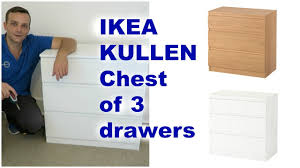 Ikea Kullen Chest Of Drawers Assembly Youtube