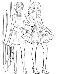 Awesome Barbie Printable Coloring Pages For