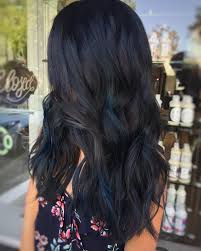 Subtle Blue Highlights 30 Stunning Ideas Of Black Hair With Highlights January 2019