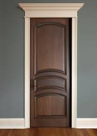 Interior Door Custom - Single - Solid Wood with Walnut Finish ...