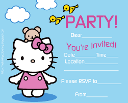 Hello Kitty Party Invitation Hello Kitty Coloring Pages