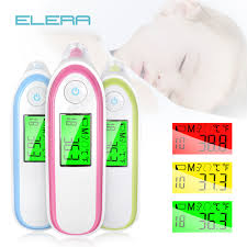LCD Digital Infrared baby Thermometer <b>Non contact Ear & Forehead</b> ...