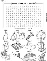 These free worksheets are printable and designed to accommodate any lesson plan for reading that includes. Ue Ui And Ew Vowel Team Phonics Word Search Coloring Sheet Long U Sounds Teaching Resources