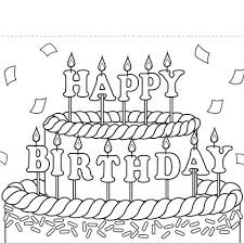 Small Picture happy birthday coloring cards good birthday card coloring page