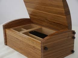 solid stripped sheesham jewellery box 28cm 11in