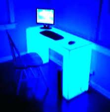 under desk led lighting. Led Lights For Desk Computer Lighting Light Up Hallway Table Glass Under