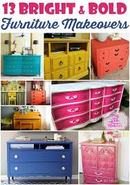 painted furniture blogs25 best Bright painted furniture ideas on Pinterest  Colorful