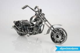 scrap metal art handmade chopper nuts and bolts motorbike gift