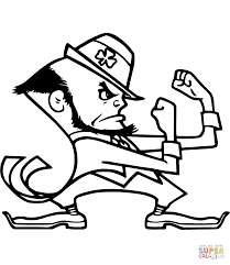 Notre Dame Leprechaun Coloring Page From