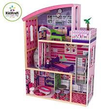 wooden barbie dollhouse furniture. Amazon.com: Kidkraft Wooden Modern Dream Glitter Dollhouse Fits Barbie: Toys \u0026 Games Barbie Furniture F
