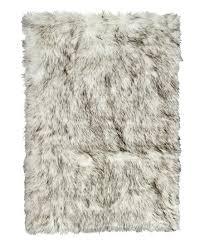 grant gray hudson faux sheepskin rug